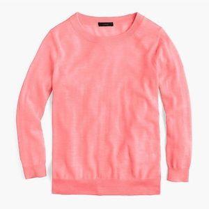 💕🍑 J. Crew Tippi Sweater // Hthr Neon Flamingo
